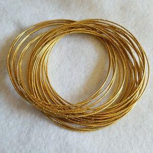 Bundle of GOLD tone BANGLE BRACELETS